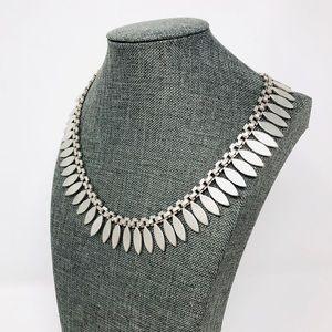 Vtg TAXCO sterling fringe necklace, 108.8g